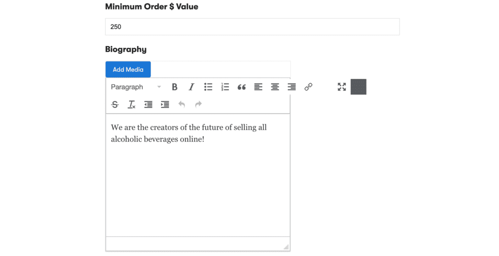 How to set a minimum order $ value