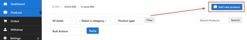 how to add a new products to CNKTID
