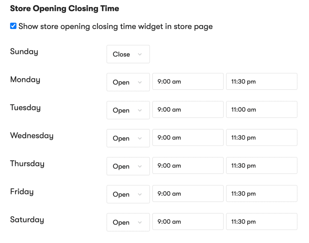 how to update store hours